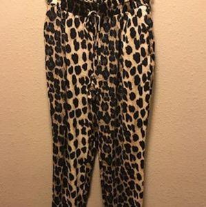 Zara Leopard Print Women Pants Size S